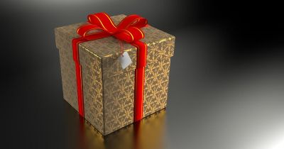 Wrapped Present Box Used For Blythswood Appeal