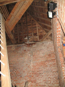Tower roof inside