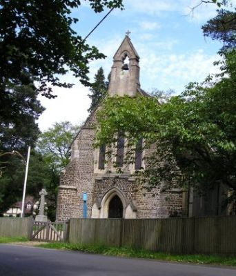 St Marys Ewshot, from road