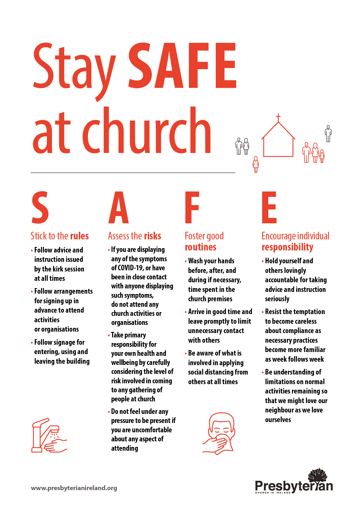 stay safe at church