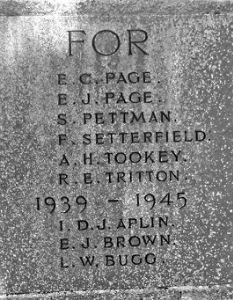 Tookey Memorial