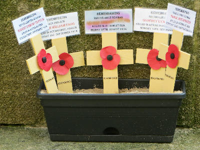 Poppy memorial 22nd Sept 2014