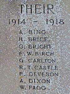 Alfred Bing WW1