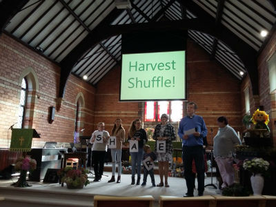 Interior of St Marks 3 Harvest Service 2017