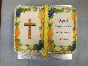 Aprils 10th Anniversary cake