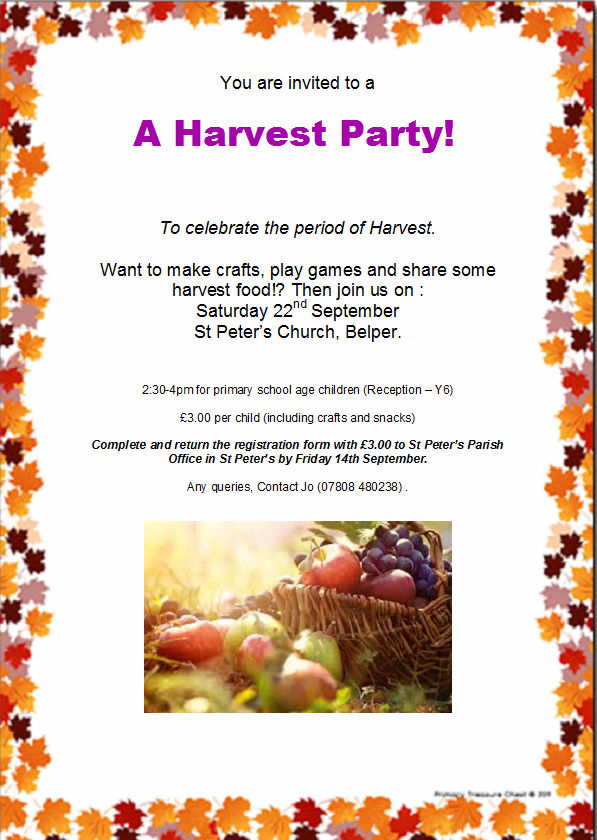 Harvest party 2018