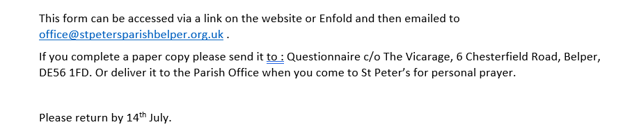 end of questionnaire 26.6.20