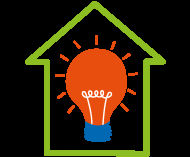 cap light bulb logo