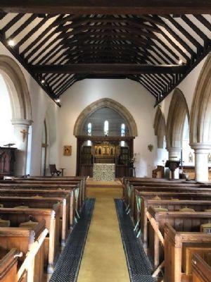 Inside church from door