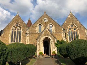 Church from gate