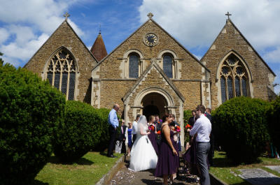 wedding and church