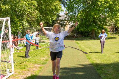 Trish at finishing line