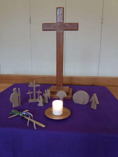 Good Friday morning altar