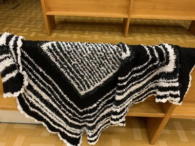Black and White Square Shawl