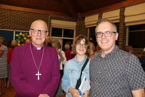 Bishop with Richard and Zoe