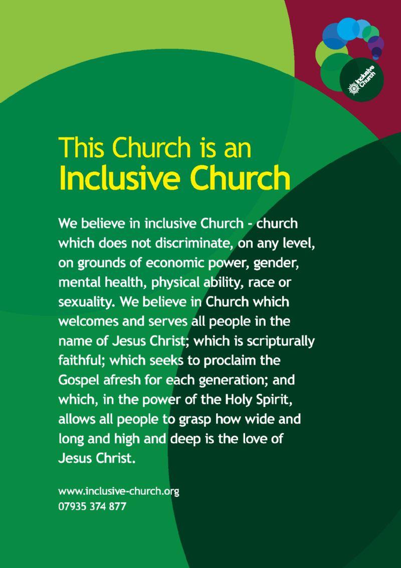 Inclusive church graphic