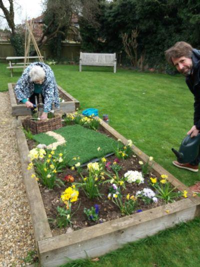 Good Friday - making Easter Garden