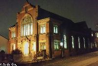 Community Church Longton building at night