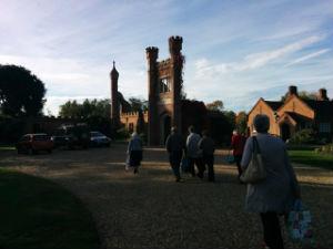 Arriving at Assington Hall