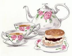 Colour Picture of cream teas