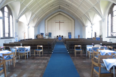 The Sanctuary with pews 2017