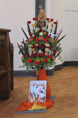 Pentecost floral display