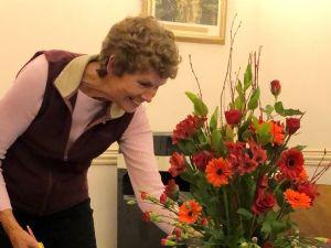 Flower Arranger Carol Boston