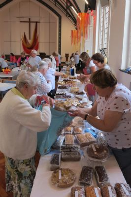 A Busy Cake Stall