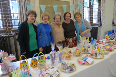 Our craft table team at  the Spring Fair