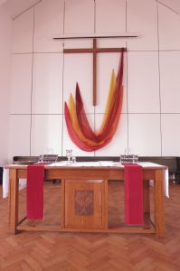 Communion Table and Banners