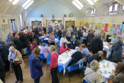 A packed hall enjoying the Spring Fair 2017