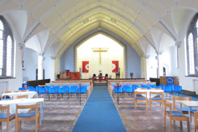 The Sanctuary without our pews