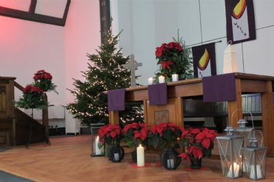 Lanterns at the Communion Table