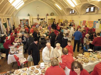 A full hall at the Christmas Fair