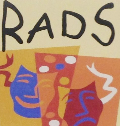 RADS' logo above the stage