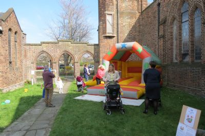 The Outside Play Area/ Bouncy Castle