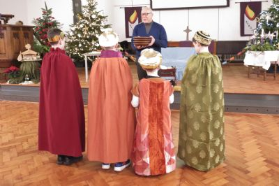 The Four Kings make their Offering