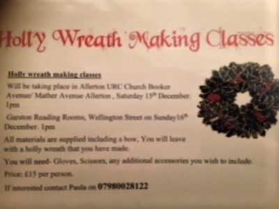 Holly Wreath Class 15th Dec 18