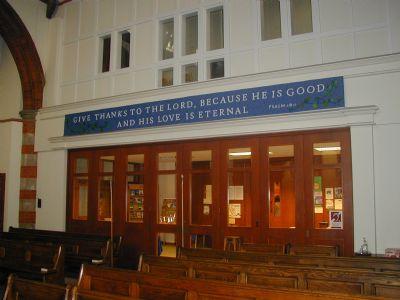 Worship Area Banner