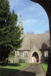 Church from lych gate - card image