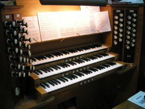 St Bartholomew's Organ Console