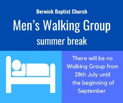 Walking Group summer break