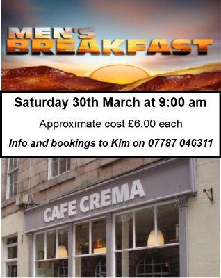 Mens breakfast details