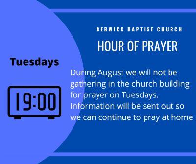 Hour of Prayer August