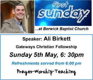 May First Sunday event