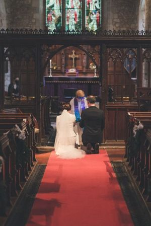 How lovely to have weddings in church again