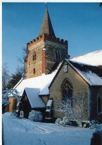 Nutfield Church Winter