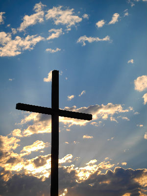 Image of Cross against sky
