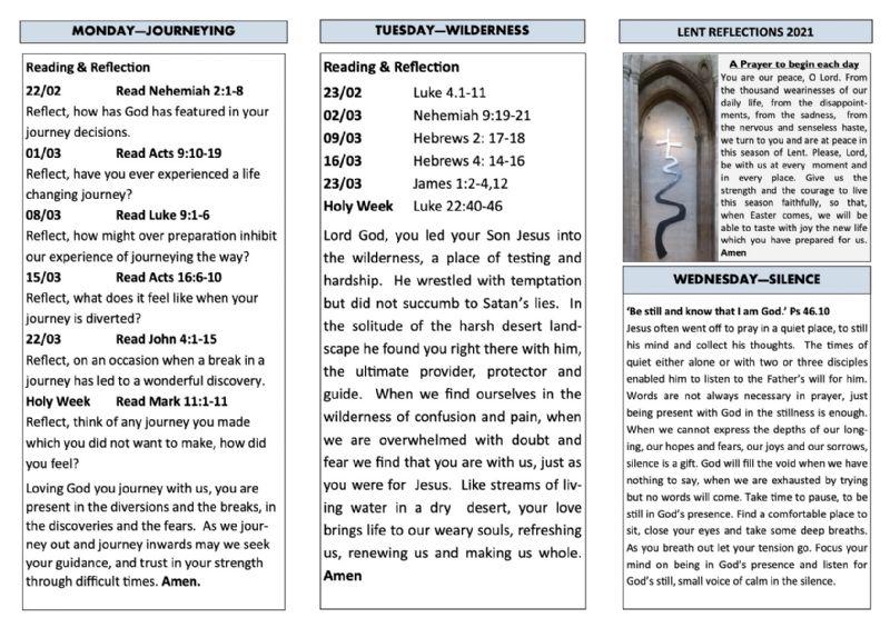 Lent reflections 1