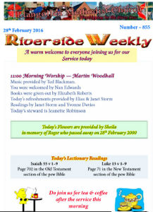 riverside weekly